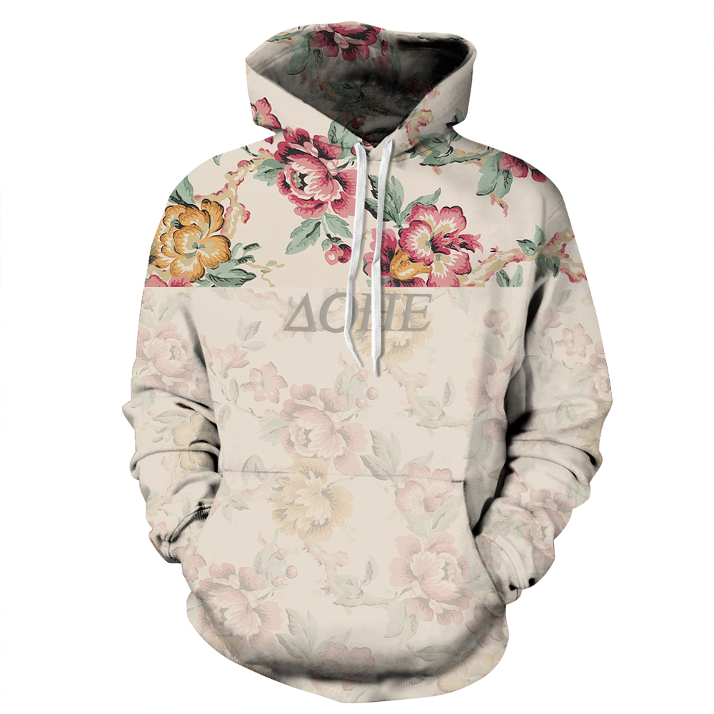 harajuku Rose flower 3D printed hoodies sweatshirts Men ...