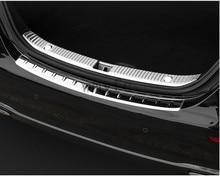 2pcs Interior+Exterior Car Rear Bumper Sill Plate Protector Trim Cover For Mercedes Benz W213 E Class E200 E300 E400 2016 2017