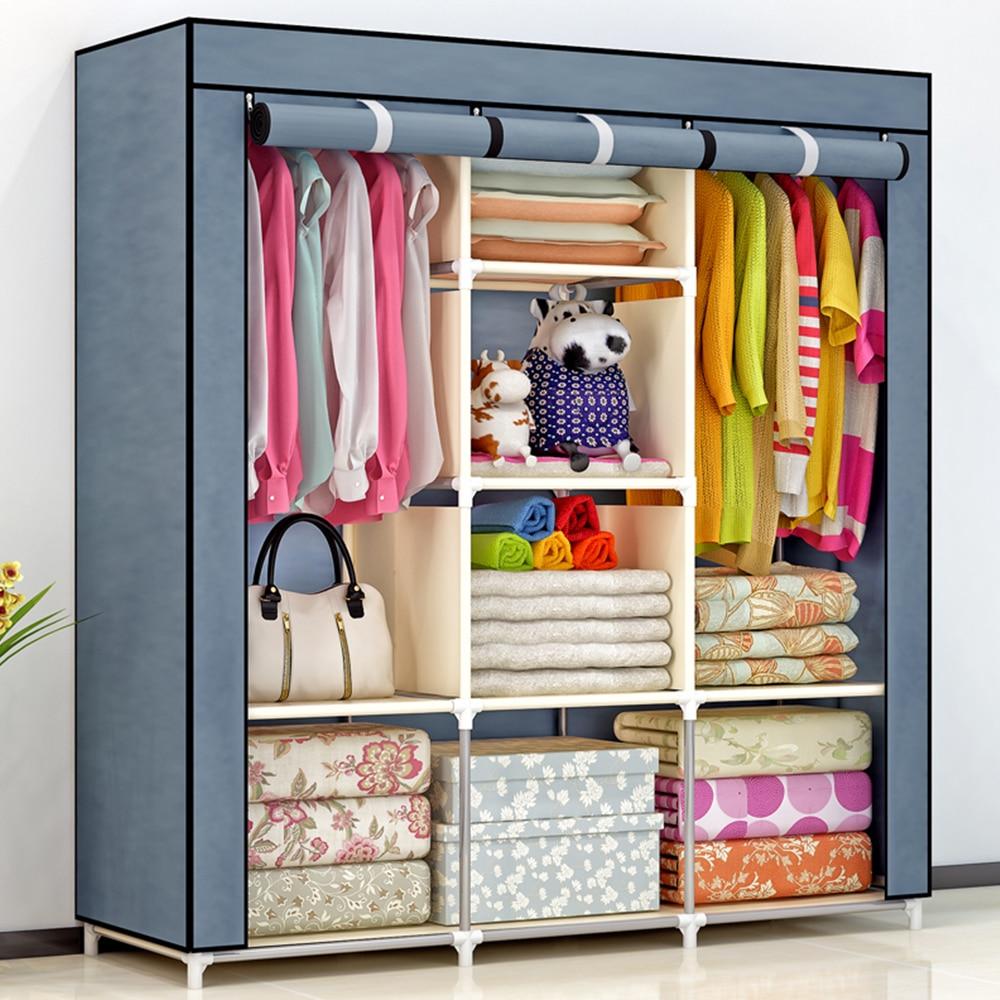 DIY Non-woven fold Portable Storage wardrobe Cabinet bedroom 2