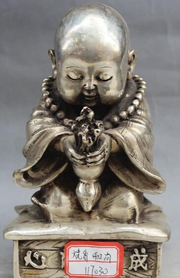 "4"" Old Tibet Buddhism Purple Bronze Stand Mahakala Wrathful Deity Buddha Statue S0705"