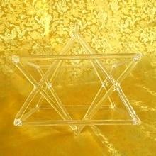 8 «оптически чистая кварцевая Поющая Merkaba Пирамида Поющая Пирамида