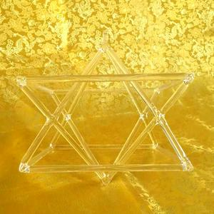 "8"" Optically Clear Quartz Crystal Singing Merkaba Pyramid Crystal Singing Pyramid"