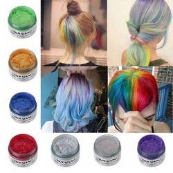 Farbe Haar Wachs Styling Pomade Silber Oma Grau Temporäre Haar Dye Einweg Mode Molding Färbung Schlamm Creme Dropshipping