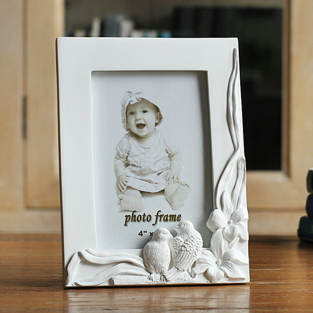 6inch Resin Wedding Photo Frame Cute Double Birds Picture Frames