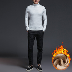 Image 4 - Brand New Casual Turtleneck Sweater Men Pullovers Thick Warm Autumn Fashion Style Sweater Male Solid Slim Fit Knitwear Pull Coat