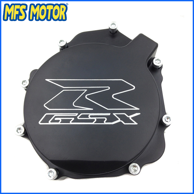 Freeshipping Motorcycle Left  Engine Stator cover  For Suzuki GSXR1000 GSX-R 2005 2006 2007 2008 Black aftermarket free shipping motorcycle part engine stator cover for suzuki gsxr600 750 2006 2007 2008 2009 2013 black left side