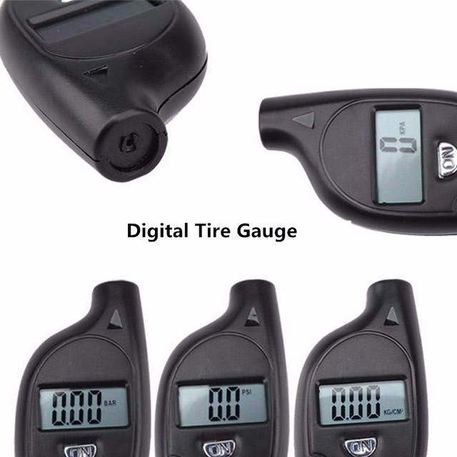 tire pressure gauge Digital automobile gauges Auto Wheel manometer Test barometer meter Tester Vehicle Motorcycle Car 5-100 PSI