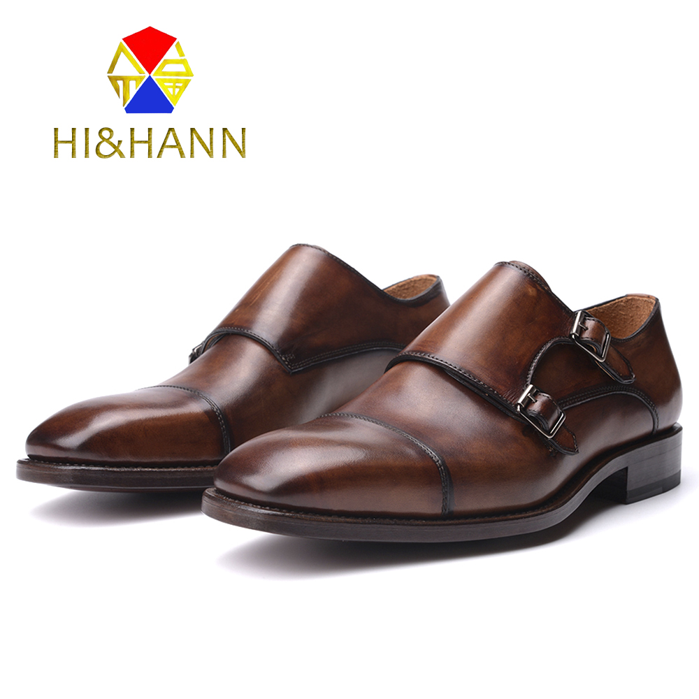 Brown Buckle Strap Goodyear Handmade Shoes Men Derby Dress shoe Men Flats Size US 6-13 Free shipping полироль пластика goodyear атлантическая свежесть матовый аэрозоль 400 мл