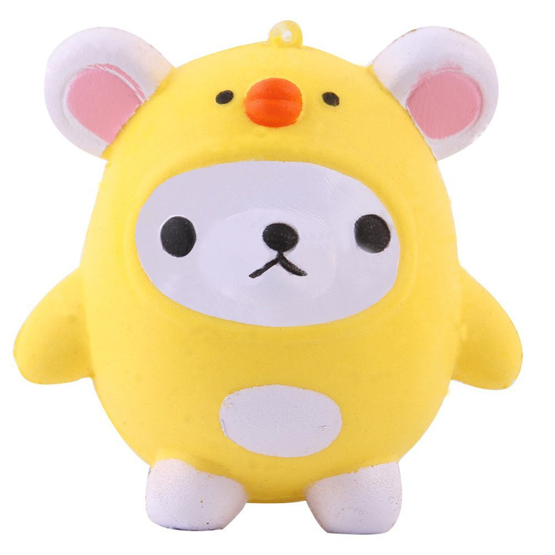 Funny Toys For Child Kids Adults Antistress Elastic PU Cat Cute Bear Jumbo Stress Relief Slow Rising Squishies Gags Brinquedos