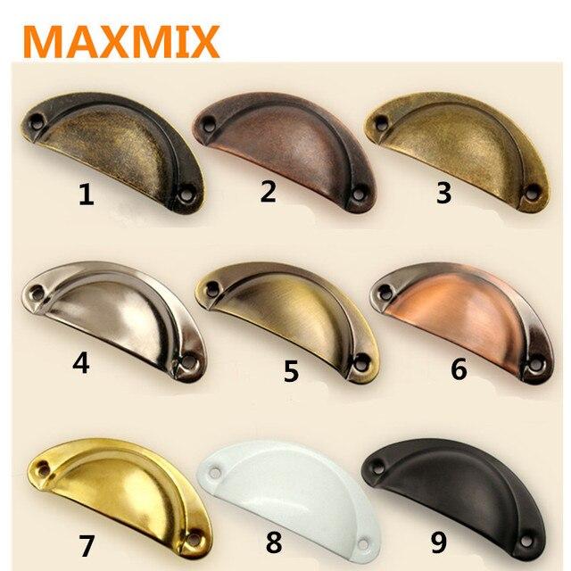 Maxmix 1 pz scocca in ottone pull maniglie pomoli per - Maniglie quadrate per mobili ...