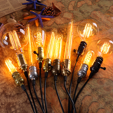 Retro Vintage 40W 220V Antique Edison Incandescent Pendant Light Filament Lamp Bulb Indoor Lighting Fixtures E27 Brass Socket  4w e27 220v filament led bulb lamp indoor lighting 40w to replace 40w incandescent ce