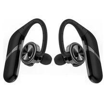 1 Pair 2 Pieces TWS Bluetooth Wireless Hands-free Car Kit Waterproof Sport Hanging Earphone Bilateral Stereo
