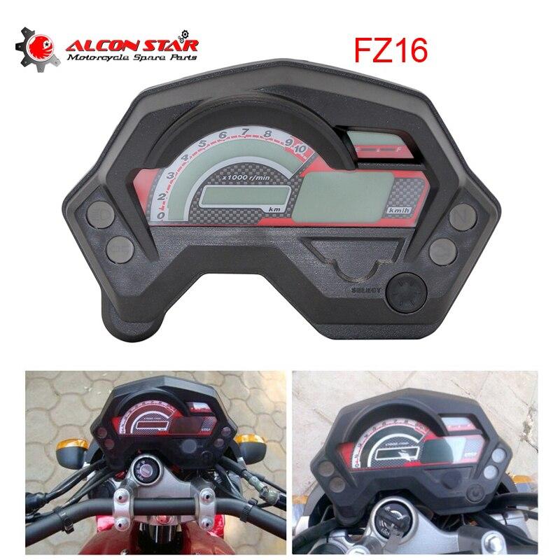 Alconstar-FZ16 moto LCD jauge numérique compteur de vitesse tachymètre odomètre moto Instrument pour Yamaha FZ16 FZ 16 mètres