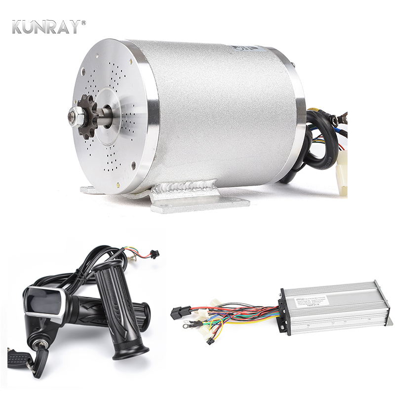Electric Brushless DC Motor Complete Kit 48V 2000W 4300RPM High Speed Motor With Controller LCD Throttle