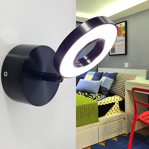 Image 5 - 5W Wall Light bedroom with switch in LED Selfie Ring Light Indoor wall Lapms For Makeup Home Hotel Bedside Reading Book Lights