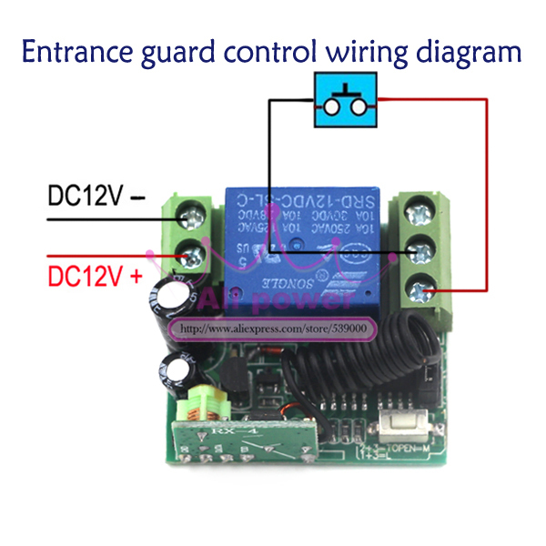 Home Automation Dc 12v 1ch Remote Control Light Switch Rf Gate