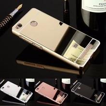 2016 Зеркало Задняя Крышка Case для Xiaomi Redmi 3 S Luxury зеркало Металла Алюминиевый Корпус Крышка Для Redmi 3 S Prime Fundas Аксессуаров