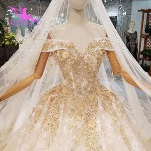 Image 5 - AIJINGYU שנהב שמלת שמלות שנזן בציר 3D יוקרה כלה תחרה מימי הביניים ייחודי שמלת כלה זולה שמלות ליד לי