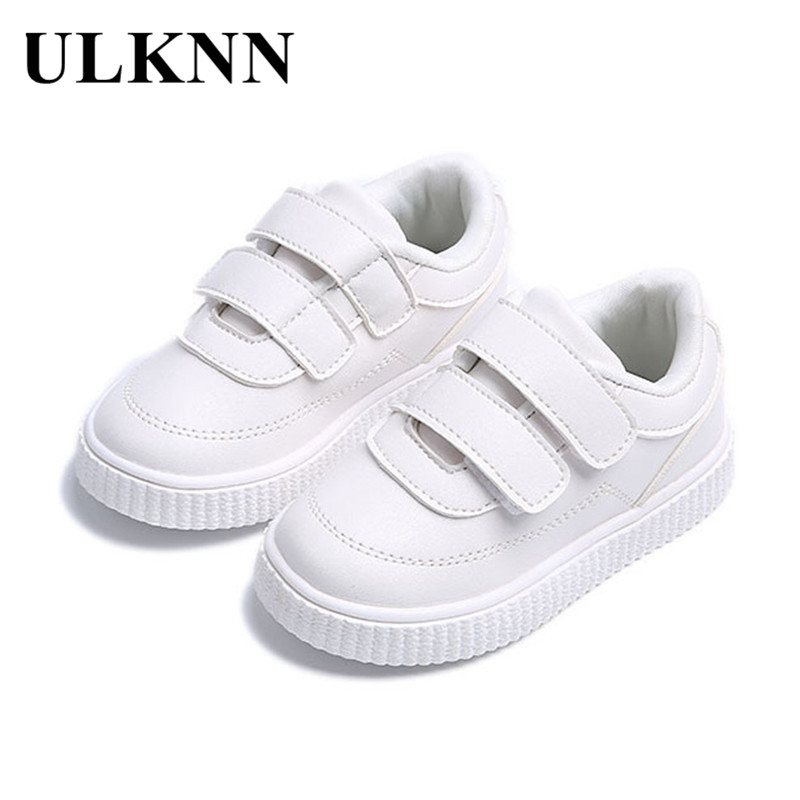 ULKNN Toddler Baby Dress Girls Shoes Flat Soft Leather Kids Boys Sneakers Childrens Casual New Fashion Solid Outdoor Shoes 2018 ...