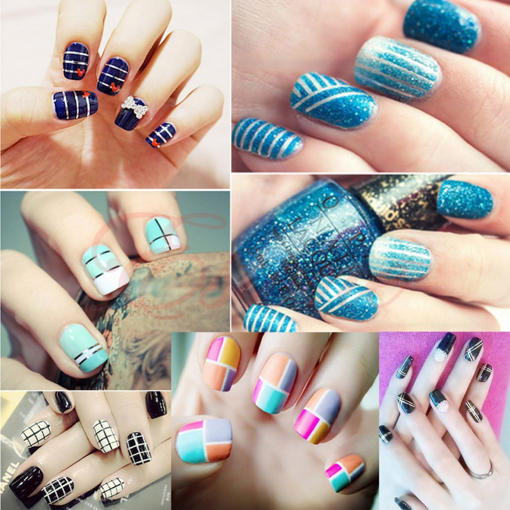 Z101 10pcs Rolls Striping Tape Line Nail Art Decor Sticker Uv Gel Tips Mixed Colors In Stickers Decals From Beauty Health On