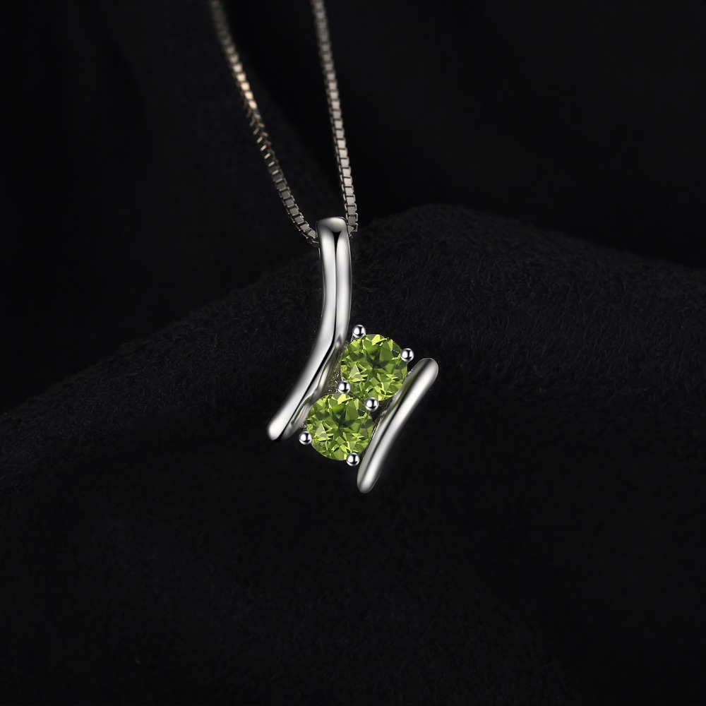 pear pendant stone birth loading silver sterling s chain is shape itm peridot image necklace gem