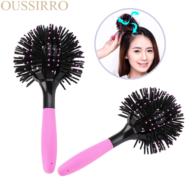 Chubby round hair brushes comb salon make up 360 degree for 360 degrees salon