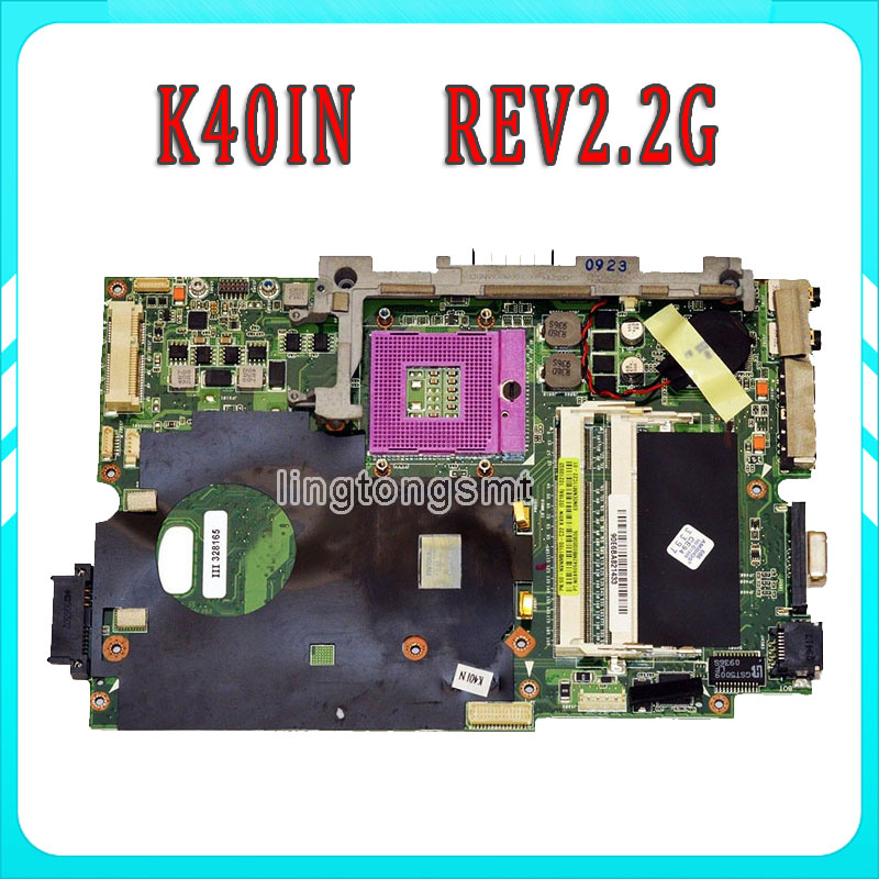 Original k40i K40IN laptop motherboard for Asus Fullly Tested 45 Days Warranty 45 days warranty laptop motherboard for asus k53b la 7322p with 4 video chips non integrated graphics card 100