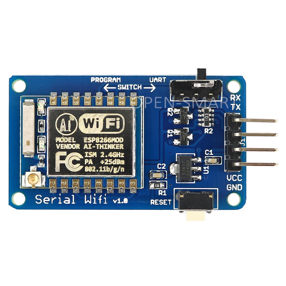 Esp8266 Esp 07 Serial Wifi Module Wireless Transceiver With Circuit Antenna Compatible 33v 5v Adapter Board For Arduino