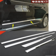 цена на Chrome Doors Body Molding Cover Trims 4pcs / set For BMW X5 F15 2014