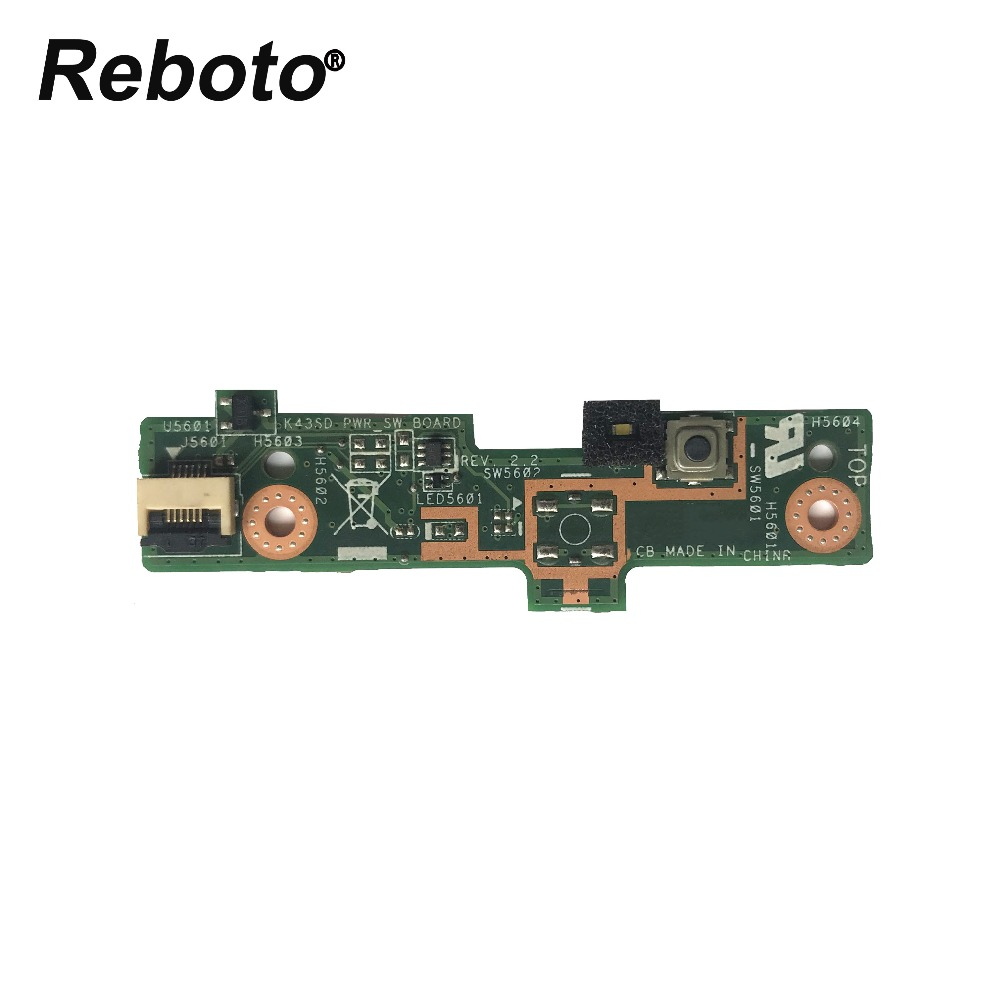 Strong-Willed Reboto For Asus K43s K43sd K43sv Power Switch Button Board 100% Tested Fast Ship Modern And Elegant In Fashion Computer & Office