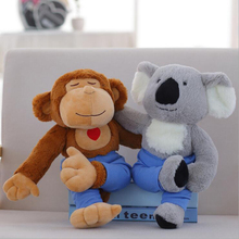 Lovely Yoga Monkey Koala Plush Toy Stuffed Animal Modelling Plush Doll Creative Gift For Children стоимость