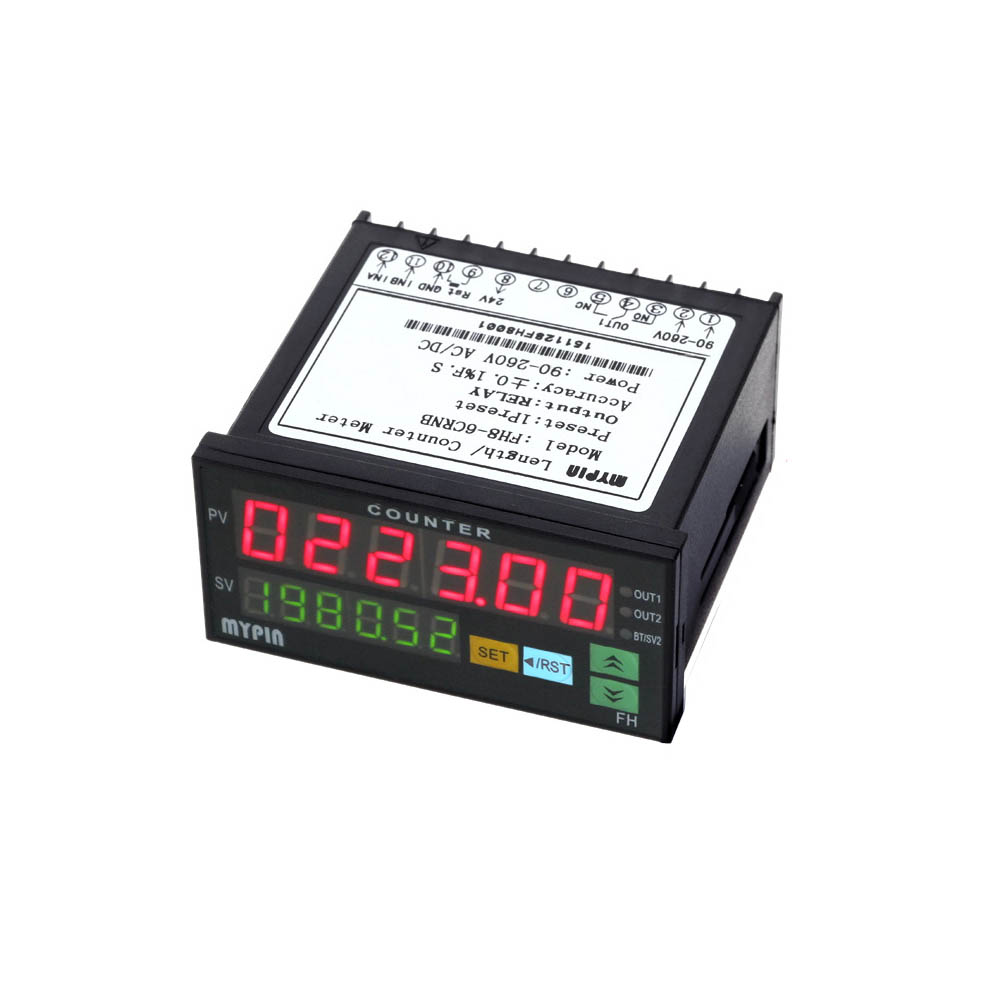 Digital Counter Mini Length Batch Meter 1 Preset Relay Output Count Meter Practical Length Meter 90-260V AC/DC The Hours Machine ac380v panel mount 8p 1 999900 count range digital counter relay dh48j dpdt
