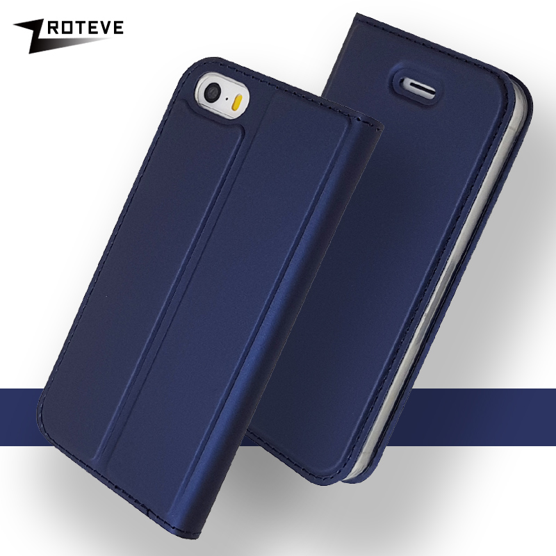 ZROTEVE Cases For iPhone 5S Case Flip Cover Leather SE Wallet KickStand Magnetic 5 Coque