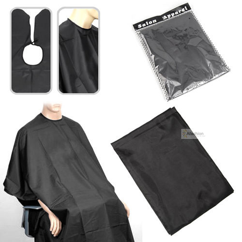 1pc 140*100cm Black Barber Cape Convenient  Fold Hair Cut Hairdressing Gown Cloth Styling Tools Hairdresser Supplies Waterproof