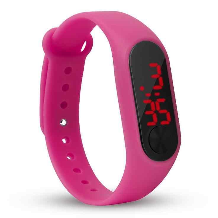 אופנה בני בנות ילדי ילדי סטודנטים ספורט דיגיטלי led שעונים חדש mens נשים קידום פלסטיק חיצוני מתנות יד שעונים