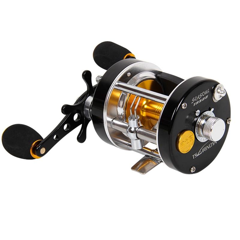 Nunatak Fishing Reel TR500 312g Straight Hand 9BB Full Metal Cast Drum Wheel Drum Fishing Reel Bait Casting