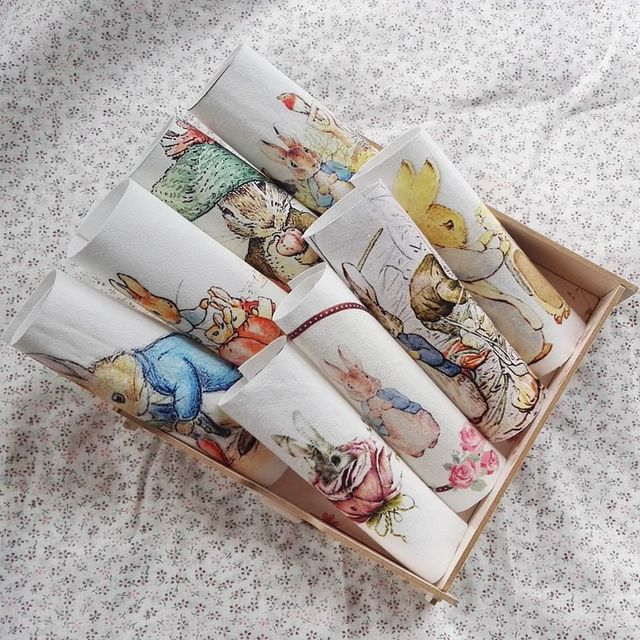 Peter Rabbit digital print Dyed Cotton Linen Fabric For DIY Sewing Quilting Patchwork Home Textile Decor Of Purse Bags Crafts