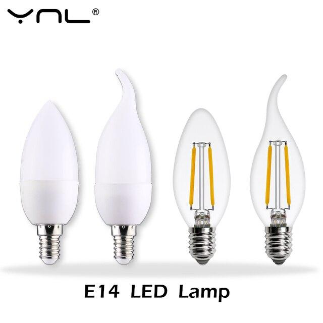Ynl lampada led lamp e14 220v ampolletas bombillas led for Lampada led e14