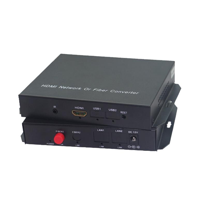 HDMI оптоволоконный конвертер HDMI удлинитель Аудио Видео Медиа удлинитель 20 км 1080p длинный яростный видео передатчик и приемник