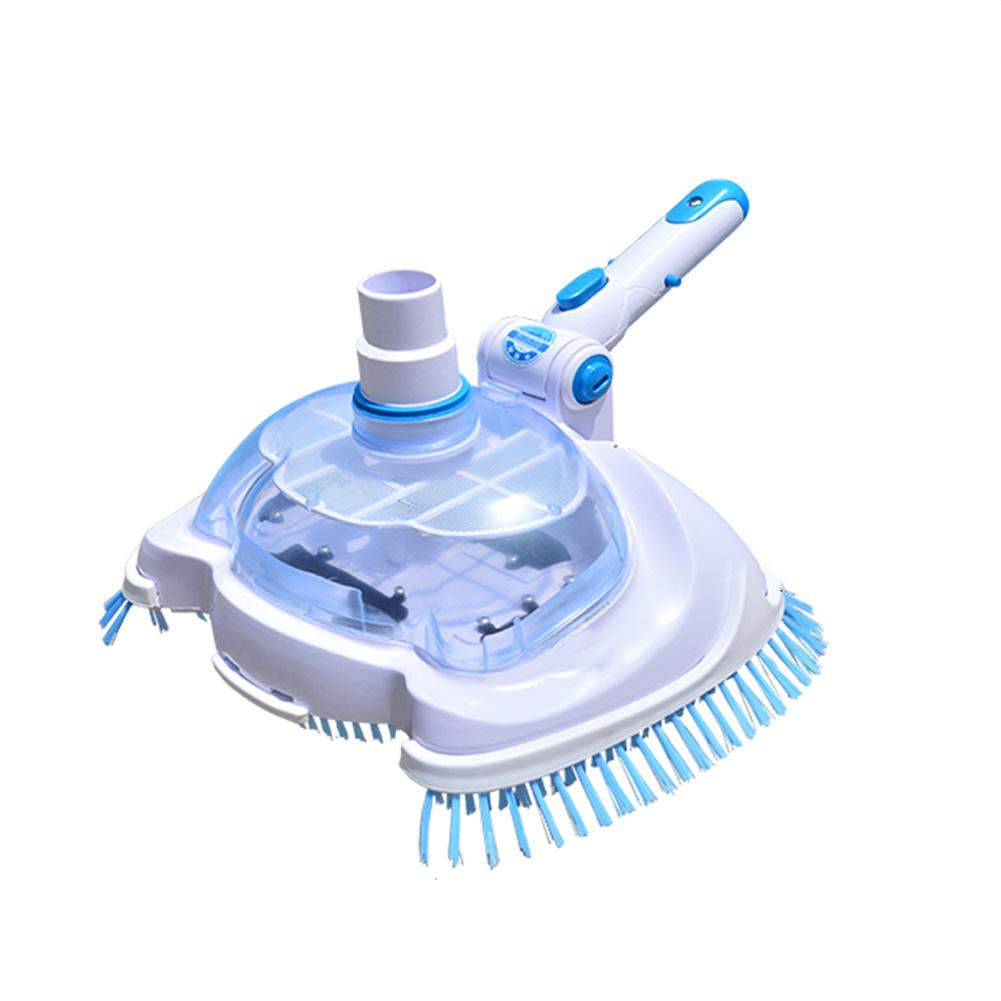 Aspirateur de piscine tête d'aspiration transparente Machine d'aspiration manuelle tête d'aspiration outil de nettoyage et d'entretien brosse nettoyeur