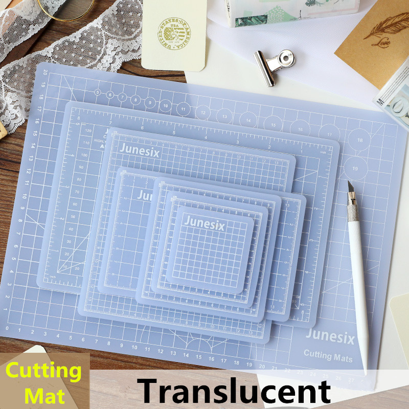 Multi-Size Translucent PVC Cutting Mat Patchwork Cut Pad Rubber Carving Art Manual Tool Double-sided Self-healing Cutter Board