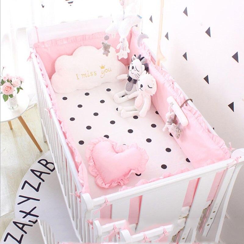 Quatre-Pièce Bébé ensembles linge de lit Lit Pare-chocs Lit Autour de Lit drap de lit Coton Épaississement Bébé Literie protection pour lit Bébé décor de chambre