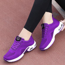 2019 Spring Autumn Korean Fashion Sneakers Women Lace Up Casual Shoes Basket Femme Red Purple Sneakers Ladies Tenis Feminino(China)