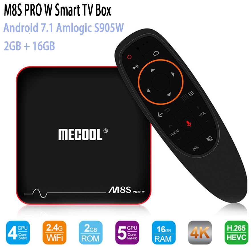 Mecool M8S PRO W TV Box 2.4G Voice Control Set Top Box S905W Smart TV Box Android 7.1 4k Android TV Box VS X96 Media Player автоакустика alpine x s65c