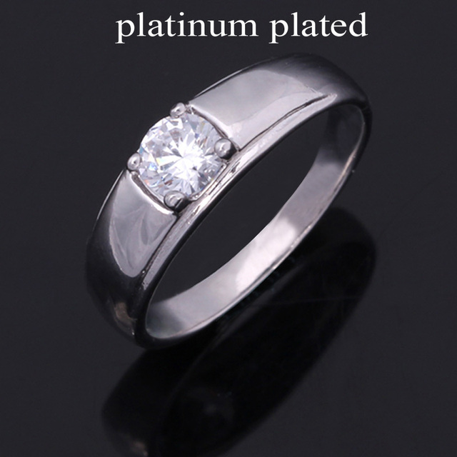 Quality Shiny Crystal Wedding Rings R305