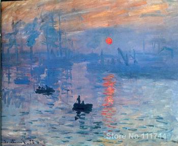Landscape painting art Impression sunrise Claude Monet High quality Hand painted