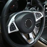 Chrome Chỉ Đạo Bánh Xe Nút Trim Phụ Kiện Xe Hơi Cho Mercedes Benz GLC C E Class W205 W213 2016 2017 Thiết Kế Xe