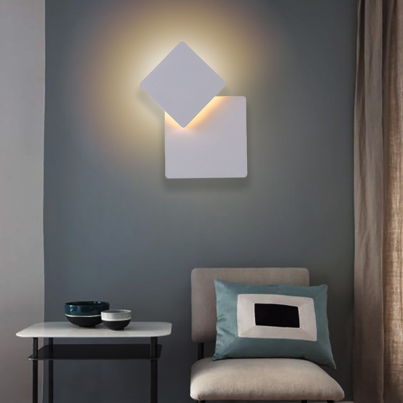 Modern Led wall fixtures for Bedside Living Room European Bedroom Wall Lamp mirror led lights Aisle indoor wall light Arandela modern simple led wall lamp bathroom mirror lamps reading light living room bedroom aisle wall lights free shipping