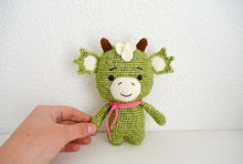 Crochet Dragon doll Amigurumi dragon toy rattle(China)