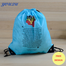 Fashion drawstring bag polyester drawstring bag drawstring bag with zipper Low price escrow accept